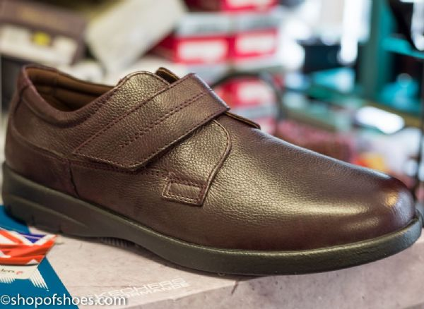 Air : Smart Padders plain fronted  leather mens velco shoe